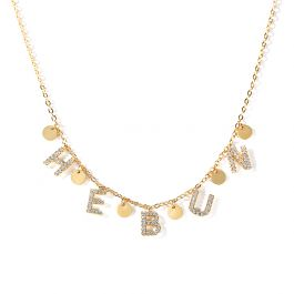 Jeulia Disc Sterling Silver Name Personalized Necklace