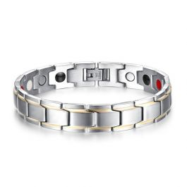 Jeulia Magnetic Men's Bracelet in Titanium Steel(21cm)