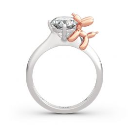 "Jeulia ""Balloon Dog"" Round Cut Sterling Silver Ring"