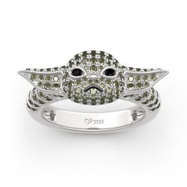 """Jeulia """"Baby Master"""" Sterling Silver Ring"""