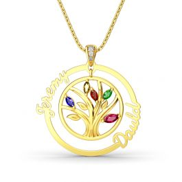 Jeulia Tree Of Strength And Connection Pendant