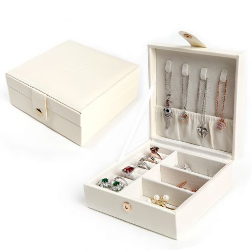 Jeulia Simple Design PU Jewelry Storage Box