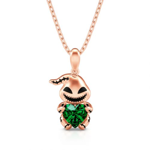 """Jeulia Hug Me """"The King of Bug Day"""" Heart Cut Sterling Silver Necklace"""