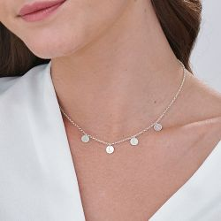 Jeulia Initials Choker Necklace in Sterling Silver