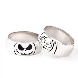 Jeulia Cute Jack Skellington Sterling Silver Band