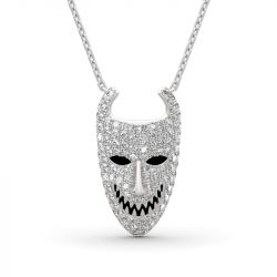 Jeulia Lock from The Nightmare Before Christmas Sterling Silver Necklace
