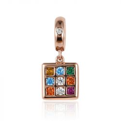 """You Are The Best"" Magic Cube Sterling Silver Pendant"