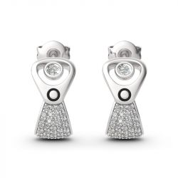 Jeulia Punk Style Cans Pull Ring Design Sterling Silver Earrings