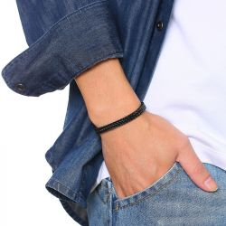 Jeulia Hip Hop Stainless Steel Men's Bracelet
