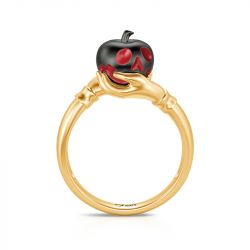 """Jeulia """"Murder Princess"""" Poison Apple Two Tone Sterling Silver Ring"""