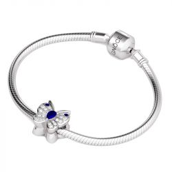 Blue Butterfly Charm Sterling Silver