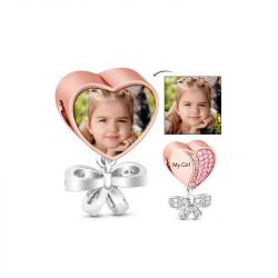 My Precious Daughter Pink Stones Photo Charm