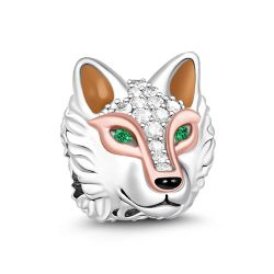 Wolf Charm Sterling Silver