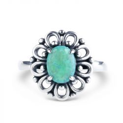 Jeulia Floral Opal Ring