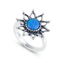 Jeulia Sunflower Opal Ring