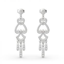 Jeulia Chandelier Sterling Silver Drop Earrings