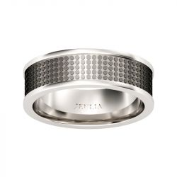 Jeulia Unique Design Stainless Steel Men's Band