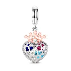 Hollow Heart Pendant Sterling Silver
