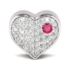 I Love You Heart Charm Sterling Silver